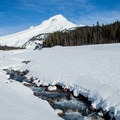 White River flowing off of Mount Hood.- Great Cross-Country Ski Trails on Mount Hood