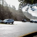 Indian Beach parking lot.- Best Places to Learn to Surf on the Oregon Coast