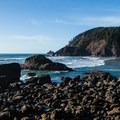 Looking north over Indian Beach at Indian Point and Tillamook Head.- 15 Incredible Fall Adventures in Oregon