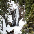 Sahalie Falls accessed from Mt. Hood Meadows Westside.- Great Cross-Country Ski Trails on Mount Hood