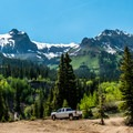 Lower parking area for the Yankee Girl Mine.- A 3-Day Adventure Itinerary in Telluride, Colorado
