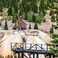 View of Yankee Girl from the Red Mountain overlook across Highway 550.- Step Back in Time at These Amazing Historic Sites