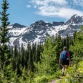 As the trail to Lower Blue Lake climbs, the views become increasingly grand.- 5 Incredible Hikes in Colorado's San Juan Mountains