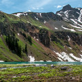 Lower Blue Lake rests below Dallas Peak.- 5 Incredible Hikes in Colorado's San Juan Mountains