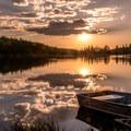 Sunset....on Sunset Lake.- Paddling the West
