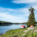 Dispersed camping along Lake Eggleston, Colorado.- Dispersed Camping on Public Lands