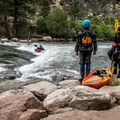 Boaters watching the fun at Buena Vista Whitewater Park.- Our Amazing River Basins