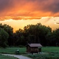 Sunset over Crow Valley Campground.- Guide to Camping in Colorado