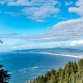 Looking north to Netarts Bay.- Cape Lookout Hiking Trail