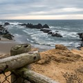 Platform overlook at Seal Rock.- Seal Rock State Recreation Site