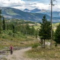 The lower part of Salt Lick Trail is popular with bikers.- Dillon Reservoir's Best Hikes, Rides + Camping