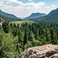 Looking back at beautiful Horseshoe Park from the Old Fall River Road.- Rocky Mountain National Park