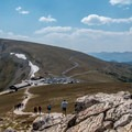 Looking back down to the Alpine Visitor Center.- Best Hikes in the Colorado Front Range
