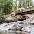 Bridge over Ouzel Creek just before Calypso Cascades.- Denver's Best Day Hikes