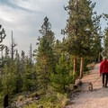 Sapphire Point Trail: The trail is wide and flat.- Dillon Reservoir's Best Hikes, Rides + Camping