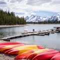 Colter Bay Marina.- 3 Days in Grand Teton National Park