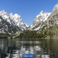 Cascade Canyon seen from Jenny Lake on the boat tour.- 3 Days in Grand Teton National Park