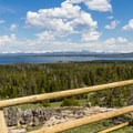 View of Yellowstone Lake from the top of the overlook.- A 3-Day Itinerary for Yellowstone National Park