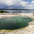 Sapphire Pool in West Thumb Geyser Basin.- West Thumb Geyser Basin