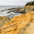Beautiful sandstone bluffs along the Shore Acres Trail.- The Ultimate Coos Bay Itinerary