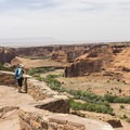 Great canyon views from the overlook.- Canyon De Chelly National Monument