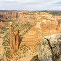 Spider Rock from the overlook.- Canyon De Chelly National Monument