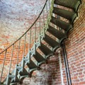 The way up inside the Cape Blanco Lighthouse.- A Guide to Exploring Oregon's Lighthouses