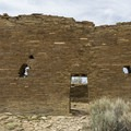 "The ""great wall"" of Una Vida, Chaco Canyon.- Exploring the Puebloan Ruins and Rock Art of Northern New Mexico"