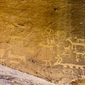 Petroglyphs at Una Vida, Chaco Canyon.- Exploring the Puebloan Ruins and Rock Art of Northern New Mexico