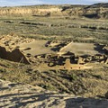 Pueblo Bonita from the Pueblo Alto Trail in Chaco Canyon.- Exploring the Puebloan Ruins and Rock Art of Northern New Mexico