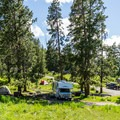 Tower Fall Campground.- A Guide to Campgrounds in Yellowstone National Park