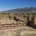 Walls of the Kuaua Ruins at Coronado Historic Site.- Exploring the Puebloan Ruins and Rock Art of Northern New Mexico