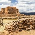 Mission ruin at Pecos National Historical Park.- Exploring the Puebloan Ruins and Rock Art of Northern New Mexico