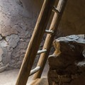 Kiva ladder at Pecos National Monument.- Exploring the Puebloan Ruins and Rock Art of Northern New Mexico