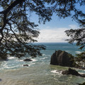 View approaching Secret Beach.- Samuel H. Boardman State Scenic Corridor
