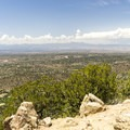 View from the top of Picacho Peak.- Six Must Do Hikes Around Santa Fe + Taos