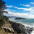 First glimpse of Hunters Island.- Best Hikes on the Southern Oregon Coast