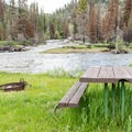 Campsite at Slough Creek.- A Guide to Campgrounds in Yellowstone National Park