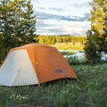Tent camping at Baker's Hole.- A Guide to Campgrounds in Yellowstone National Park