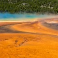 Grand Prismatic Spring, Yellowstone National Park.- Grand Prismatic Spring + Midway Geyser Basin