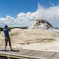 The White Dome Geyser erupts frequently.- A 3-Day Itinerary for Yellowstone National Park