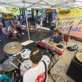 Strange Hotels on stage at the 2018 Outdoor Project Minneapolis Block Party.- Outdoor Project's 2018 Block Party Festival Series Recap