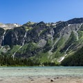 Avalanche Lake and the Continental Divide beyond.- Glacier National Park