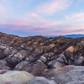 Sunrise over Death Valley National Park from Zabriskie Point.- Zabriskie Point