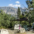Rising Sun Campground.- Glacier National Park
