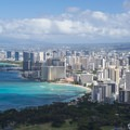 View west toward Waikīkī from the summit of Diamond Head (761 ft).- Hawaii's Best Day Hikes