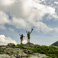 The summit of Adam's Apple. The Chin of Mount Mansfield is to the right.- The Ultimate Fall Foliage Road Trip in Vermont