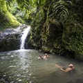 Maunawili Falls with a swimming hole.- Must-See Waterfalls in Hawaii