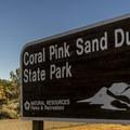 Entering Coral Pink Sand Dunes State Park.- Coral Pink Sand Dunes State Park