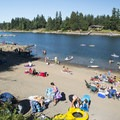 The beach on the Willamette River at George Rogers Park in Lake Oswego.- 31 Best Beaches + Swimming Holes in-and-around Portland, Oregon